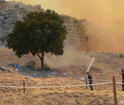 Μυκήνες: Πρώτη εκτίμηση για την πυρκαγιά στον αρχαιολογικό χώρο