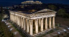 Nαός του Ηφαίστου  Νέος φωτισμός στον ναό του Ηφαίστου και στο μνημείο Φιλοπάππου NAOS HFAISTOU    Studio On Stelios Tzetzias p A 275x150