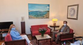 Συνάντηση Ι. Μπούγα με την Πρόεδρο της Επιτροπής Περιβάλλοντος της Βουλής  Συνάντηση Ι. Μπούγα με την Πρόεδρο της Επιτροπής Περιβάλλοντος της Βουλής                                             275x150