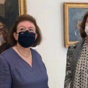 Η βασιλομήτωρ της Ισπανίας Σοφία με την Υπουργό Πολιτισμού Λίνα Μενδώνη  Επίσκεψη της βασιλομήτορος Σοφίας της Ισπανίας στην Εθνική Πινακοθήκη                                                                                                                                      180x180