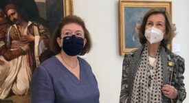 Η βασιλομήτωρ της Ισπανίας Σοφία με την Υπουργό Πολιτισμού Λίνα Μενδώνη  Επίσκεψη της βασιλομήτορος Σοφίας της Ισπανίας στην Εθνική Πινακοθήκη                                                                                                                                      275x150