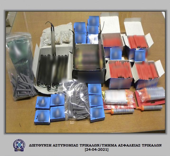 Συλλήψεις στα Τρίκαλα για παράνομη κατοχή βεγγαλικών  Συλλήψεις στα Τρίκαλα για παράνομη κατοχή βεγγαλικών