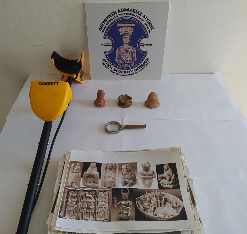 Σύλληψη αρχαιοκάπηλου στη Λακωνία  Σύλληψη αρχαιοκάπηλου στη Λακωνία 15062021arxaiagada002