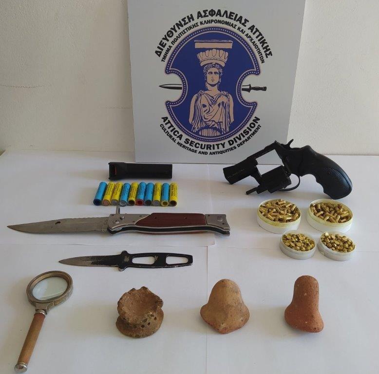 Σύλληψη αρχαιοκάπηλου στη Λακωνία 15062021arxaiagada003