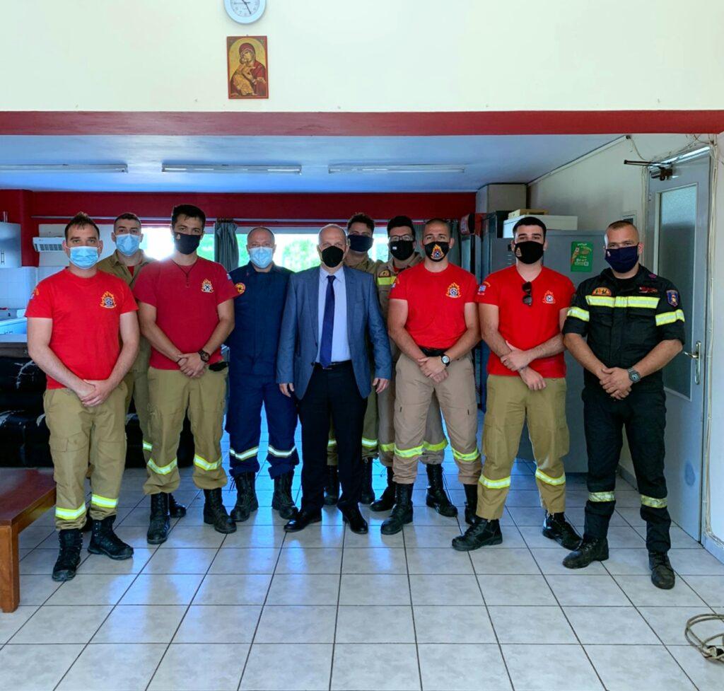 Επίσκεψη Γιάννη Οικονόμου Πυροσβεστική Υπηρεσία Λαμίας 20210517 115210 1024x977
