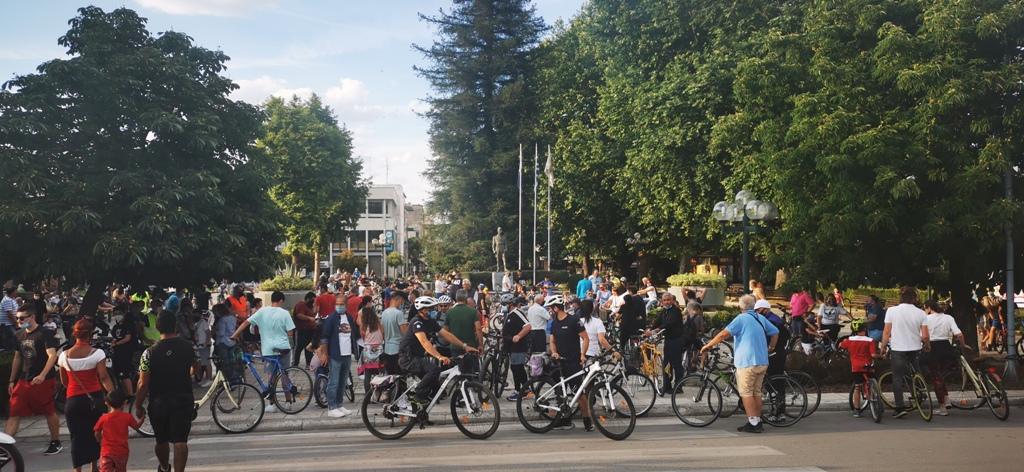 Μεγάλη ποδηλατάδα στα Τρίκαλα για την Παγκόσμια Ημέρα Ποδηλάτου podilatada 20211