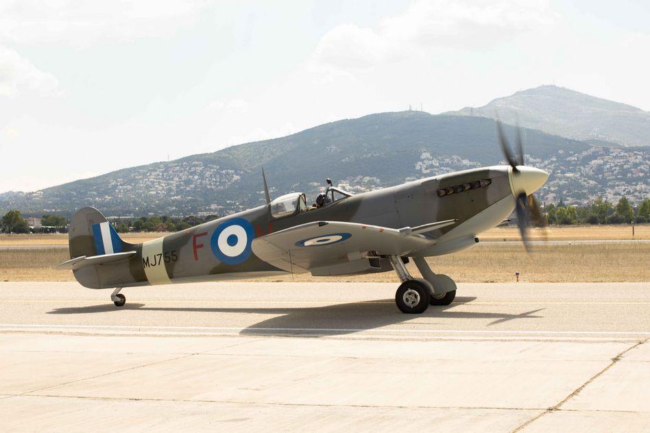 Τελετή Άφιξης του Αεροσκάφους Supermarine Spitfire MJ755 της ΠΑ tn 10