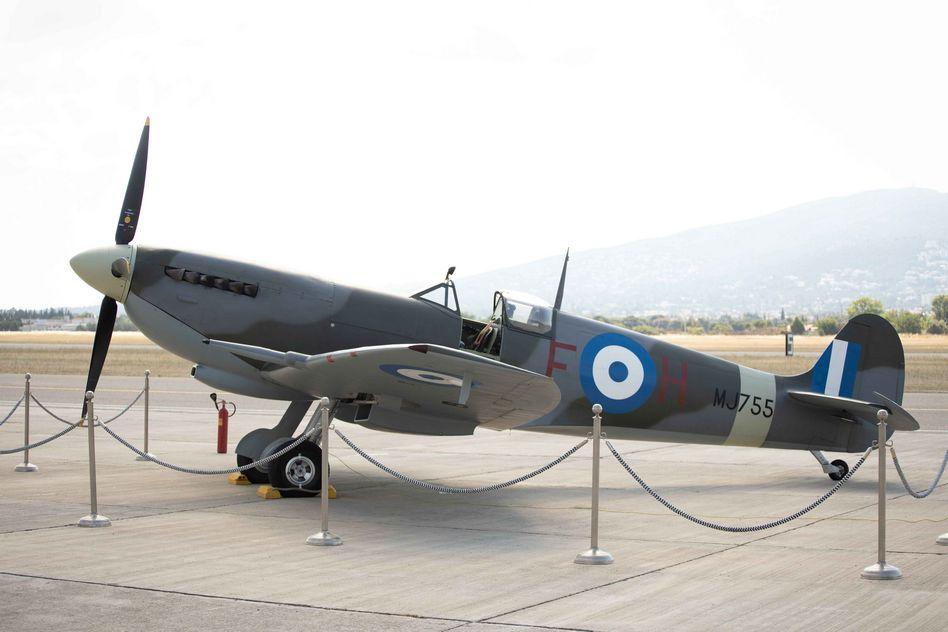 Supermarine Spitfire MJ755  Τελετή Άφιξης του Αεροσκάφους Supermarine Spitfire MJ755 της ΠΑ tn 15