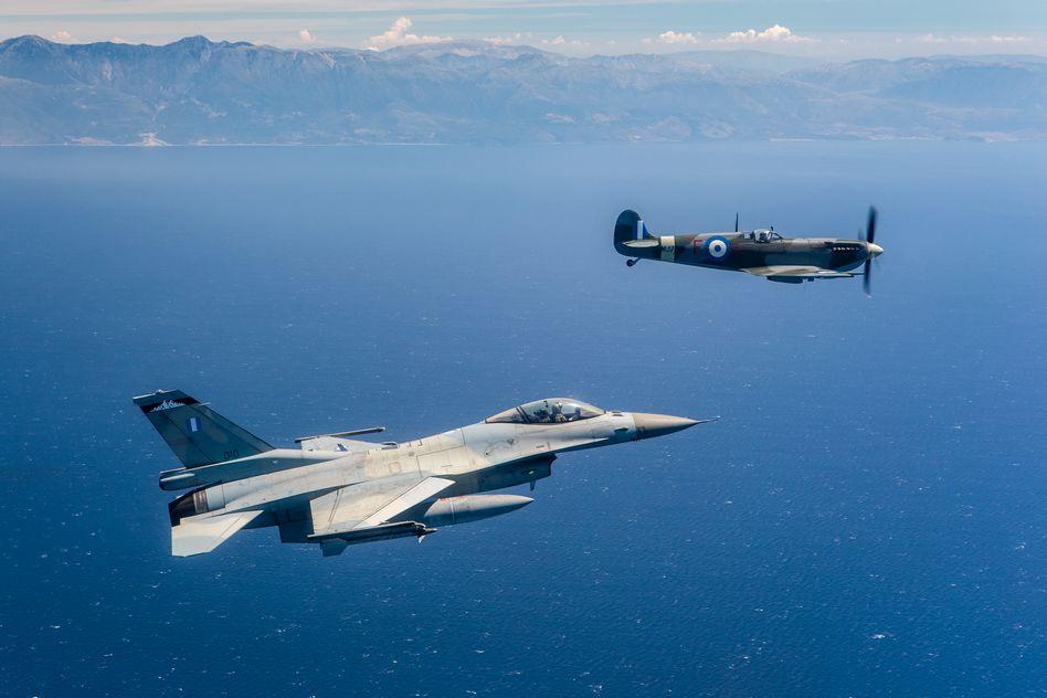 Τελετή Άφιξης του Αεροσκάφους Supermarine Spitfire MJ755 της ΠΑ tn 19