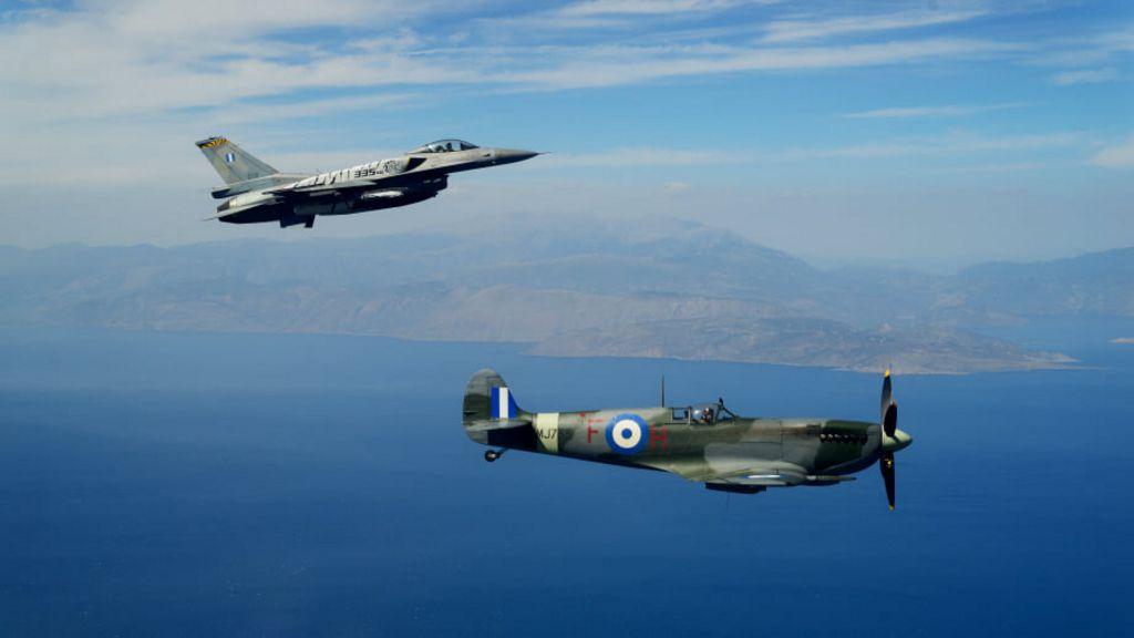 Τελετή Άφιξης του Αεροσκάφους Supermarine Spitfire MJ755 της ΠΑ tn 193213902 312445457080284 4649607280950046327 n
