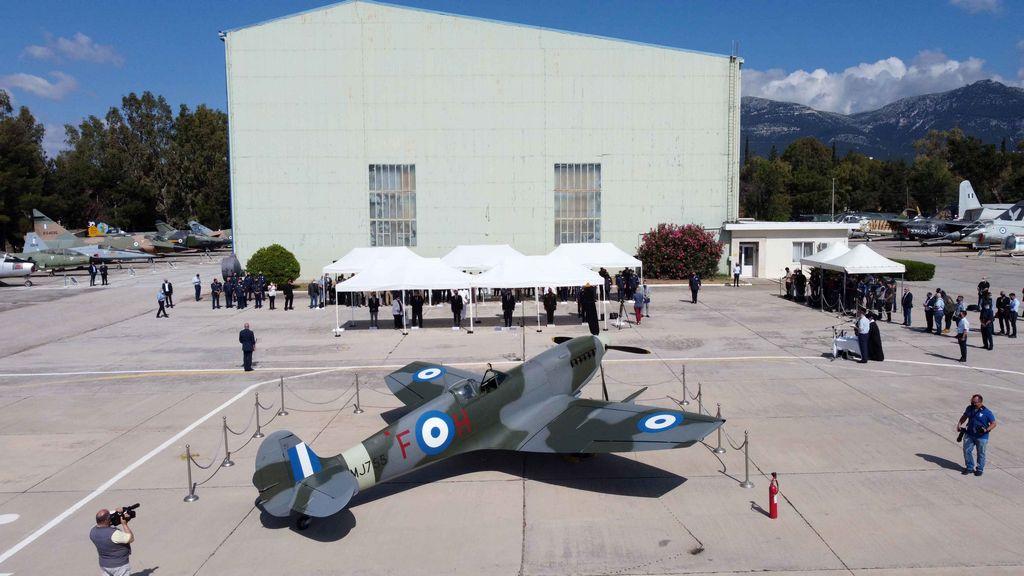 Τελετή Άφιξης του Αεροσκάφους Supermarine Spitfire MJ755 της ΠΑ tn 21