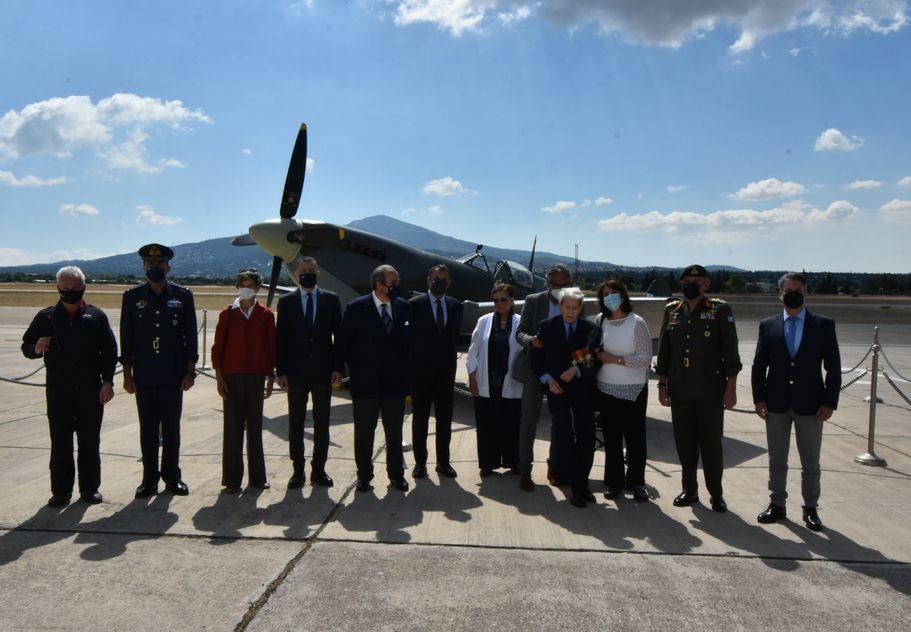Τελετή Άφιξης του Αεροσκάφους Supermarine Spitfire MJ755 της ΠΑ tn 9