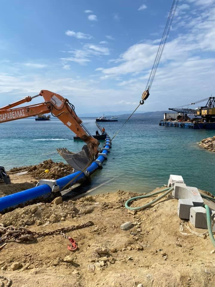 Ολοκληρώθηκε η πόντιση του υποθαλάσσιου αγωγού υδροδότησης της Αίγινας  Ολοκληρώθηκε η πόντιση του υποθαλάσσιου αγωγού υδροδότησης της Αίγινας photo aigina 1