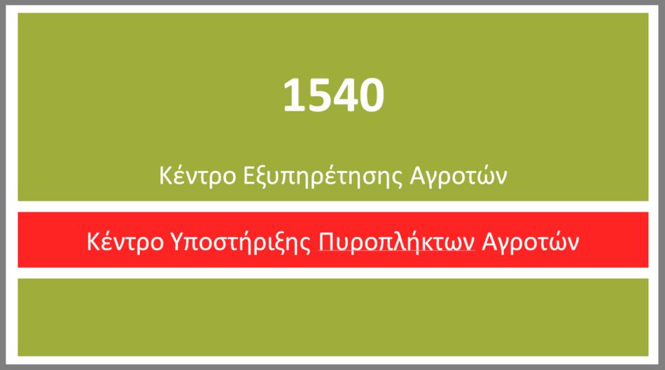 Τηλεφωνική γραμμή στήριξης των πυρόπληκτων αγροτών   540                950x528