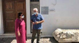 Αυτοψία Λίνας Μενδώνη σε έργα πολιτισμού σε Σαντορίνη, Σίκινο και Θηρασιά                                                                                                                275x150