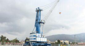 Νέος αυτοκινούμενος γερανός και μηχάνημα διακίνησης εμπορευματοκιβωτίων στο Λιμάνι του Βόλου                                             275x150