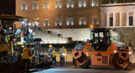 Ολοκληρώθηκαν τα έργα ανακατασκευής του οδοστρώματος περιμετρικά της πλατείας Συντάγματος photo syntagma 2 275x150