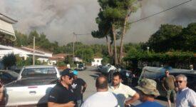 Ανεξέλεγκτη η πυρκαγιά στην Εύβοια  Φάνης Σπανός: «Παλεύουμε να σώσουμε τον τόπο μας»-Ανεξέλεγκτη η πυρκαγιά στην Εύβοια pyrkagia07ayg214 275x150