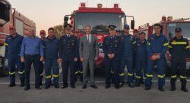 Επίσκεψη Σπ. Λιβανού στο νεο κτήριο διοίκησης των πυροσβεστικών υπηρεσιών Αιτωλοακαρνανίας