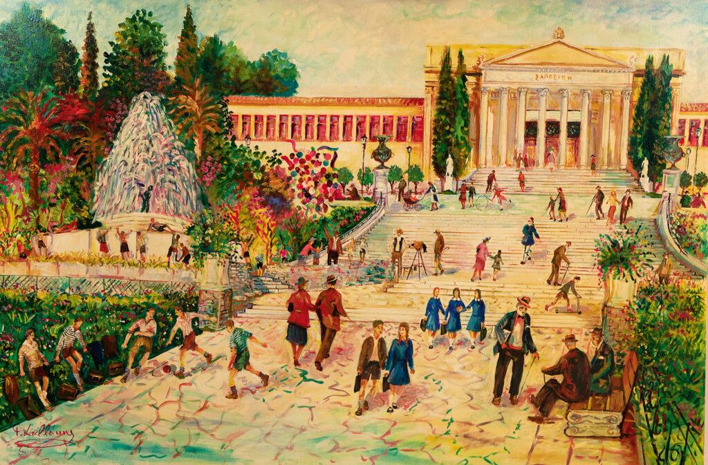 Νεώτερο μνημείο η λαϊκή τέχνη του Γιώργου Σαββάκη στις ταβέρνες της Πλάκας                  1024x673