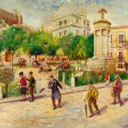 Νεώτερο μνημείο η λαϊκή τέχνη του Γιώργου Σαββάκη στις ταβέρνες της Πλάκας                                       180x180