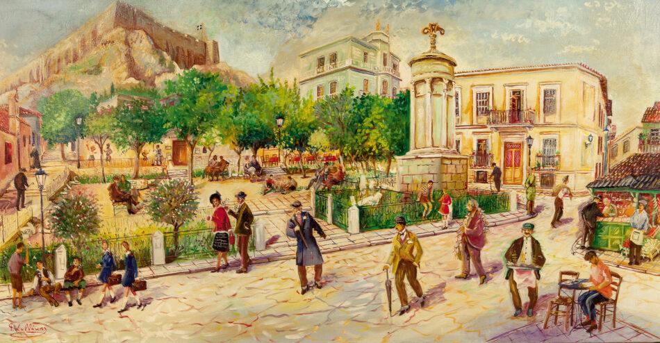 Νεώτερο μνημείο η λαϊκή τέχνη του Γιώργου Σαββάκη στις ταβέρνες της Πλάκας                                       950x494