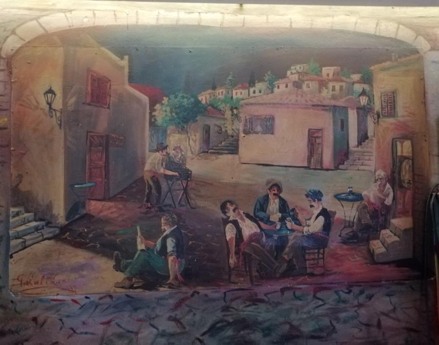 Νεώτερο μνημείο η λαϊκή τέχνη του Γιώργου Σαββάκη στις ταβέρνες της Πλάκας 10