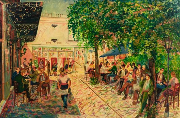 Νεώτερο μνημείο η λαϊκή τέχνη του Γιώργου Σαββάκη στις ταβέρνες της Πλάκας Cine Paris