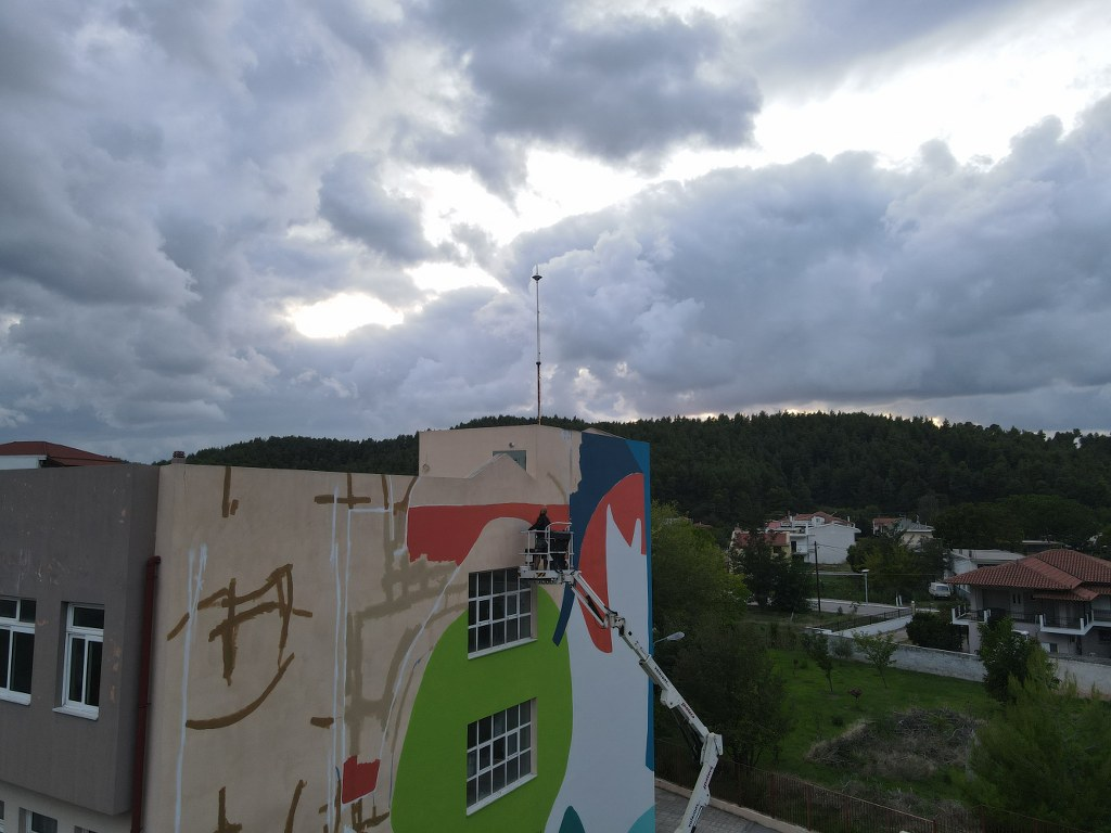 Mεγάλη τοιχογραφία στο δημοτικό σχολείο Μαντουδίου 2 4 1024x768